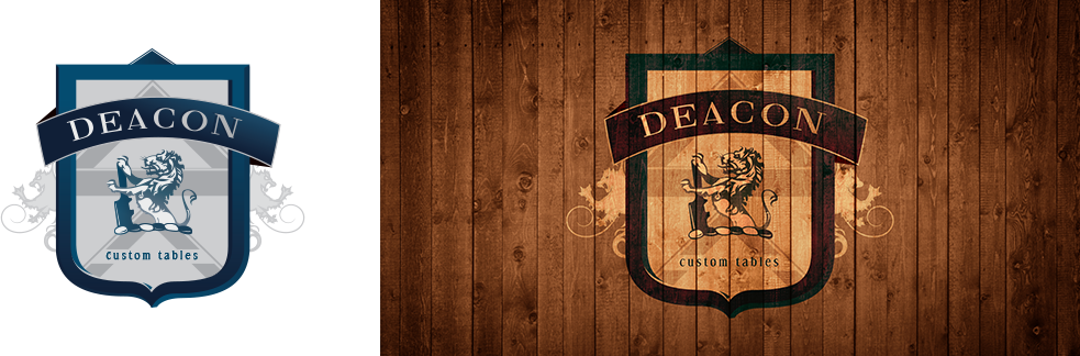 custom design crest and branding done for Deacon Furniture
