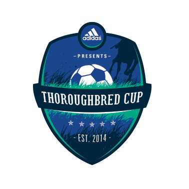 thoroughbred cup soccer crest design
